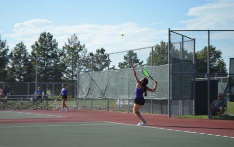 Behind the racket